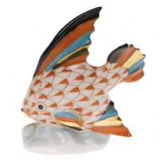 Herend Porcelain Fishnet Figurine of a Miniature Fish